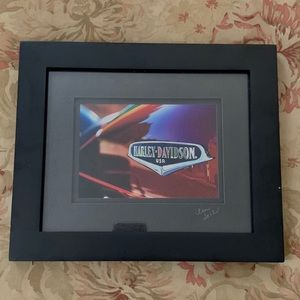 Framed photo - Harley Davidson